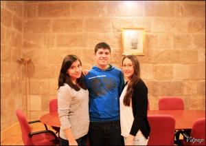 """Equipo """"Valladolid, de pueblo en pueblo"""". Raquel, Daniel, Rebeca (izq.der.)"""
