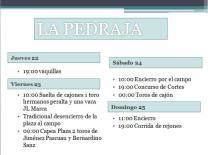Programa La Pedraja