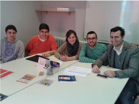 (Parte de la directiva en una reunión con Jorge el Presidente de CPJV y David Concejal del Ayuntamiento de Medina de  Rioseco )