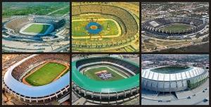 """Evolución del estadio de """"Castelão"""", Fuente: Wikipedia"""