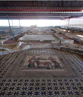 """Mosaico principal Villa Romana, """"La Calzadilla"""""""