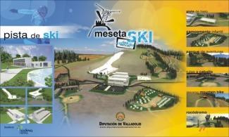 Antiguo cartel promocional de Meseta Ski.