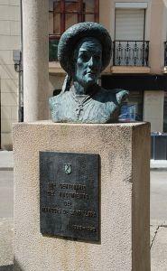 Busto de Íñigo López de Mendoza, Marqués de Santillana, en Carrión de Los Condes. Foto: Wikipedia