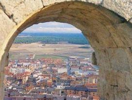 Vista de Íscar desde el castillo