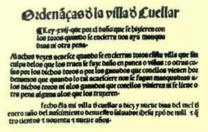 Ordenanzas. Foto: Web Ayuntamiento Cuéllar