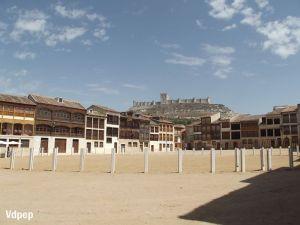 Vista de Castillo desde la Plaza del Coso.