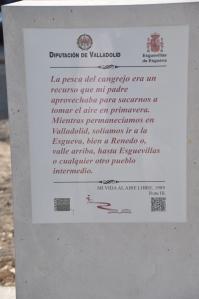 Monolito de la Ruta de Delibes. Foto: Día de Valladolid.