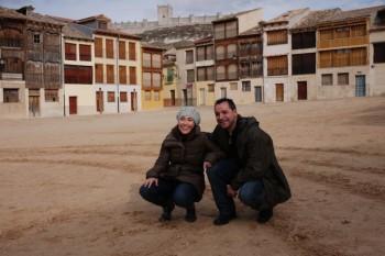 Eva y Jose en Peñafiel. Foto: www.organizotuviaje.com