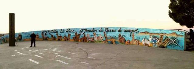 Mural en Autilla del Pino. Foto Susana García.